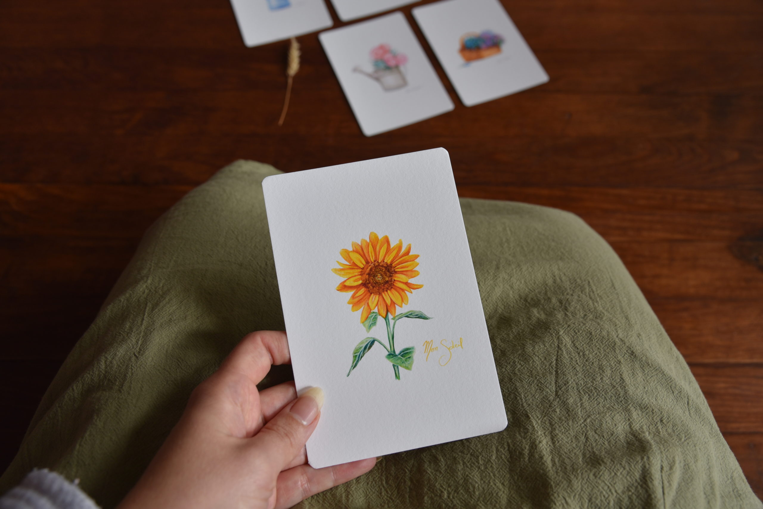 Carterie fleurie