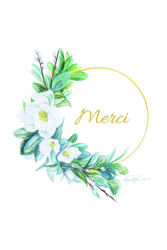 carterie fleurie, carte personnalisable